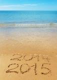 Cijfers op het zand Stock Fotografie