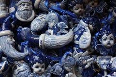 Cijfers van blauwe maan en engelen Royalty-vrije Stock Afbeelding