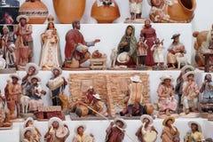 Cijfers van herinnerings de Indische mensen met activiteiten Stock Foto's