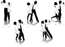 Cijfers van jonge dansers #2 royalty-vrije illustratie