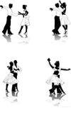 Cijfers van jonge dansers #2 vector illustratie