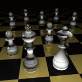 Cijfers van schaak Royalty-vrije Stock Afbeeldingen