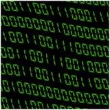 0.1 cijfers vectorbehang Groene binaire code inzake zwarte achtergrond De digitale illustratie van de matrijs abstracte technolog royalty-vrije illustratie