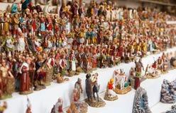 Cijfers voor het creëren van Kerstmisscènes Stock Fotografie