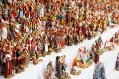 Cijfers voor het creëren van Kerstmisscènes voor verkoop Stock Foto