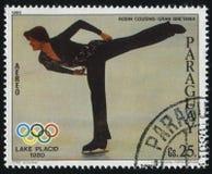 Cijferschaatser Robin Cousins van Groot-Brittannië bij Olympische de Winter royalty-vrije stock foto