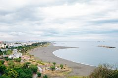 Cijin beach in Kaohsiung, Taiwan. Cijin beach town in Kaohsiung, Taiwan royalty free stock images