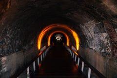 Cijin tunnel i den Cijin ön, Kaohsiung, Taiwan Royaltyfria Foton
