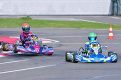 CIK-FIA欧洲人Karting冠军 免版税图库摄影