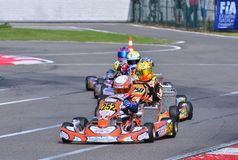 CIK-FIA European Karting Championship. Royalty Free Stock Photos
