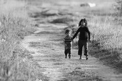 Ciężka droga życie Fotografia Royalty Free