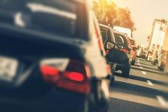 Ciężki autostrada ruch drogowy Obrazy Stock