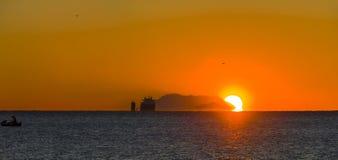 Ciężki dźwignięcie ładunku statek Zdjęcie Stock