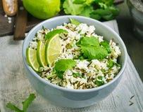 Cilantro lime basmati rice above stock photos