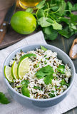 Cilantro and lime basmati rice Royalty Free Stock Photos