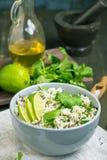Cilantro lime basmati rice vartical stock image