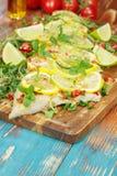 Cilantro Lime Cod Stock Photo