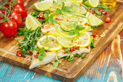 Cilantro Lime Cod Royalty Free Stock Photography