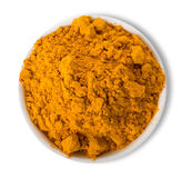 Turmeric powder in plate Stock Images