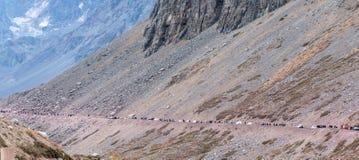 Cileno le Ande nella bella fotografia del paesaggio fotografie stock