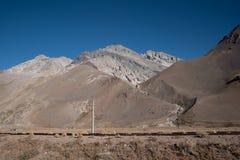 Cileno le Ande nella bella fotografia del paesaggio fotografia stock