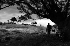 Ciletuh Geopark, одно из заново раскрытого туристского назначения в Sukabumi Стоковое Изображение