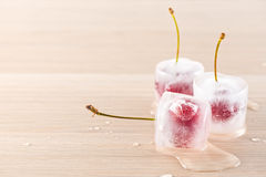 Ciliege congelate Fotografia Stock Libera da Diritti