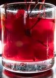 Ciliege per le bevande Backlit Fotografie Stock