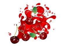 Succo della ciliegia Fotografia Stock Libera da Diritti