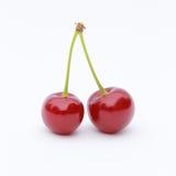 Ciliege rosse gemellare fotografia stock