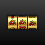 Ciliege. Vincendo in slot machine. Vettore. Immagine Stock