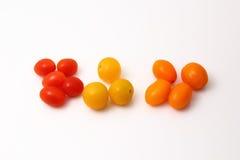 Ciliegia dei pomodori Fotografia Stock Libera da Diritti