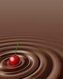 Ciliegia del briciolo di turbinio del cioccolato Immagine Stock