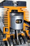 Cilinder - dwarsdoorsnede Stock Foto's