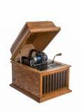 Cilinderfonograaf op Wit wordt geïsoleerd dat Stock Foto