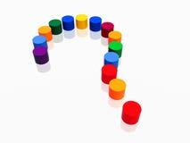 cilinders colour pytania znak ilustracji