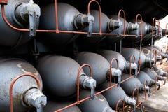 Cilinders Gas der hohen Kapazität des Heliums Behälter mit komprimiertem Gas für Industrie Verflüssigte Sauerstoffproduktion fabr lizenzfreies stockbild