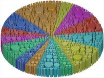 Cilindri all'interno di una torta statistica Immagine Stock