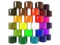 Cilindri di diversità Fotografie Stock
