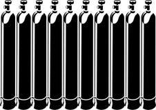 Cilindri di ossigeno Immagine Stock