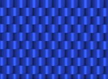 Cilindri impilati blu che formano una struttura Immagini Stock Libere da Diritti
