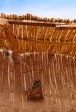 Cilindro africano autêntico na parede de Kasbah Ait Ben Haddou, Mo Imagem de Stock Royalty Free