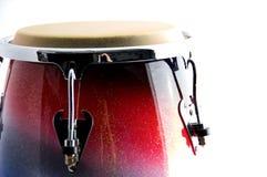 Cilindro branco e azul vermelho do Conga Foto de Stock Royalty Free