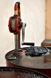 Cilindro de óleo sujo Imagem de Stock Royalty Free