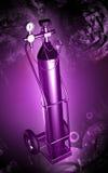 Cilindro de oxígeno Imagen de archivo libre de regalías