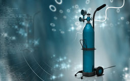 Cilindro de oxígeno Fotografía de archivo