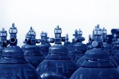 Cilindro de oxigênio de alta pressão industrial Fotos de Stock Royalty Free