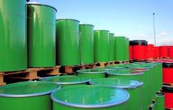 Cilindro de petróleo Foto de Stock