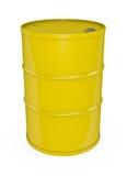 Cilindro de petróleo amarelo ilustração stock