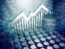 Cilindro de petróleo e gráfico do estoque Imagem de Stock Royalty Free